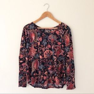 Loft Vintage Soft Floral Long Sleeve
